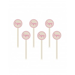 PICKS ENJOY PINK BUFFET 13.9 CM (P.12)