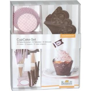 DECOSET PAPEL CUPCAKE CHOCOLATE 24 CAPSULAS