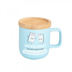 TAZA UN DIA SIN TI ES MAS TRISTE 30 CL (MR WONDERFUL)