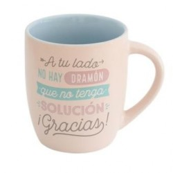 TAZA A TU LADO NO HAY DRAMON 30 CL (MR WONDERFUL)