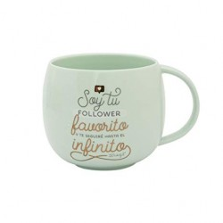 TAZA SOY TU FOLLOWER FAVORITO 30 CL (MR WONDERFUL)