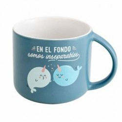 TAZA EN EL FONDO SOMOS INSEPARABLES 378 ML (MR WONDERFUL)