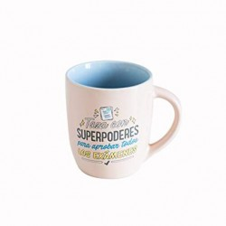 TAZA SUPERPODERES PARA APROBAR (MR WONDERFUL)