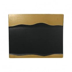 BANDEJA RECTANGULAR METALFUSION BLACK GOLD (RAK)