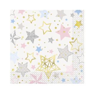 SERVILLETA TWINKLE LITTLE STAR C. 16
