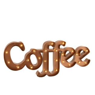 COFFEE LETRAS METAL COBRE 77X32x6.5 CM
