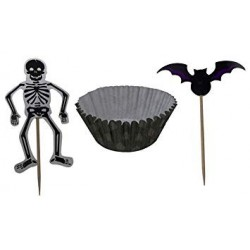 12 CUPCAKE KITS HALLOWEEN C/PICKS