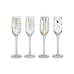 SET 4 COPA CHAMPAGNE CRISTAL CHEERS 20,7 CL