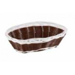 CESTA OVAL BLANCO-MARRON