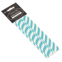 CAÑA PAPEL STRAWS LIGHT BLUE P.10