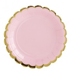 PLATO CARTON LIGHT PINK GOLD 18CM P.6