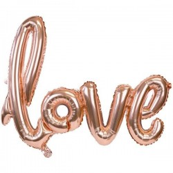 GLOBO LOVE ROSE GOLD 73X59 CM